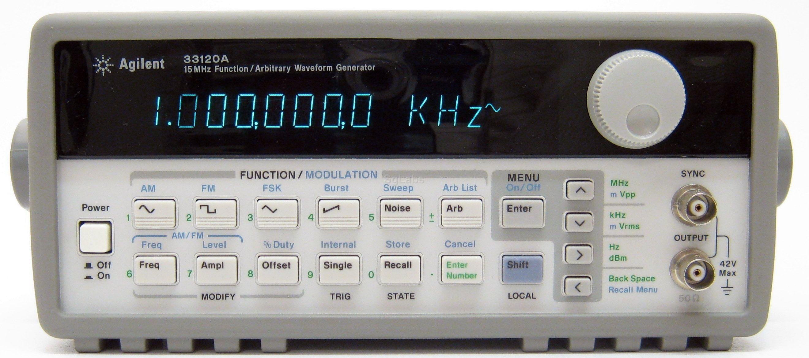 hp agilent keysight 33120a rh sglabs it HP Waveform Generator Hewlett-Packard 33120A Manual