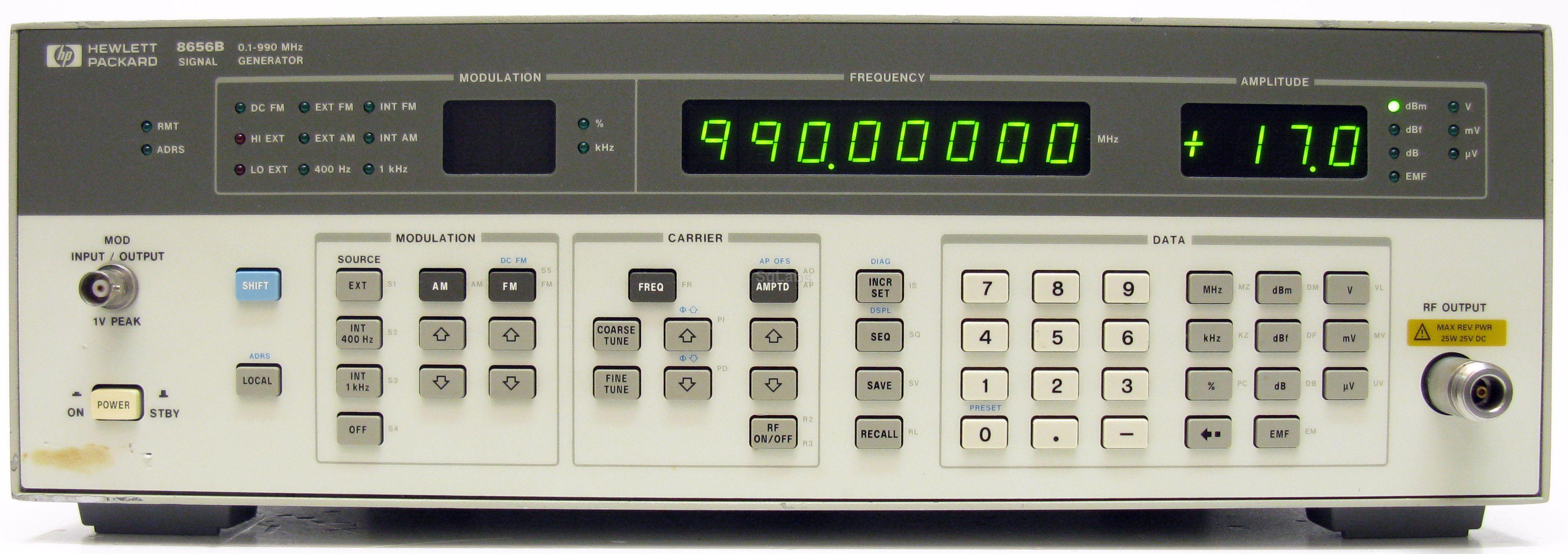Hp Agilent Keysight 8656b