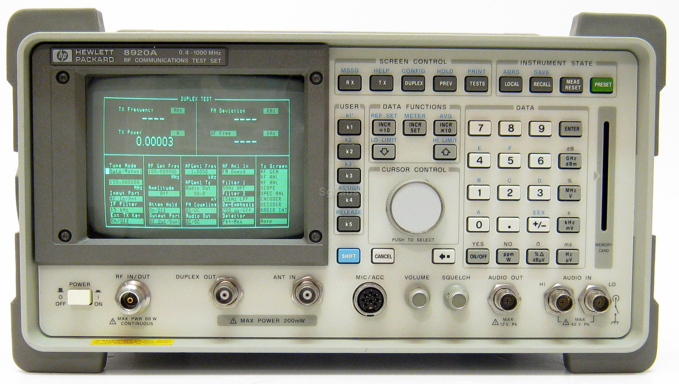 HP Agilent Keysight, 8920A Measuring Instruments