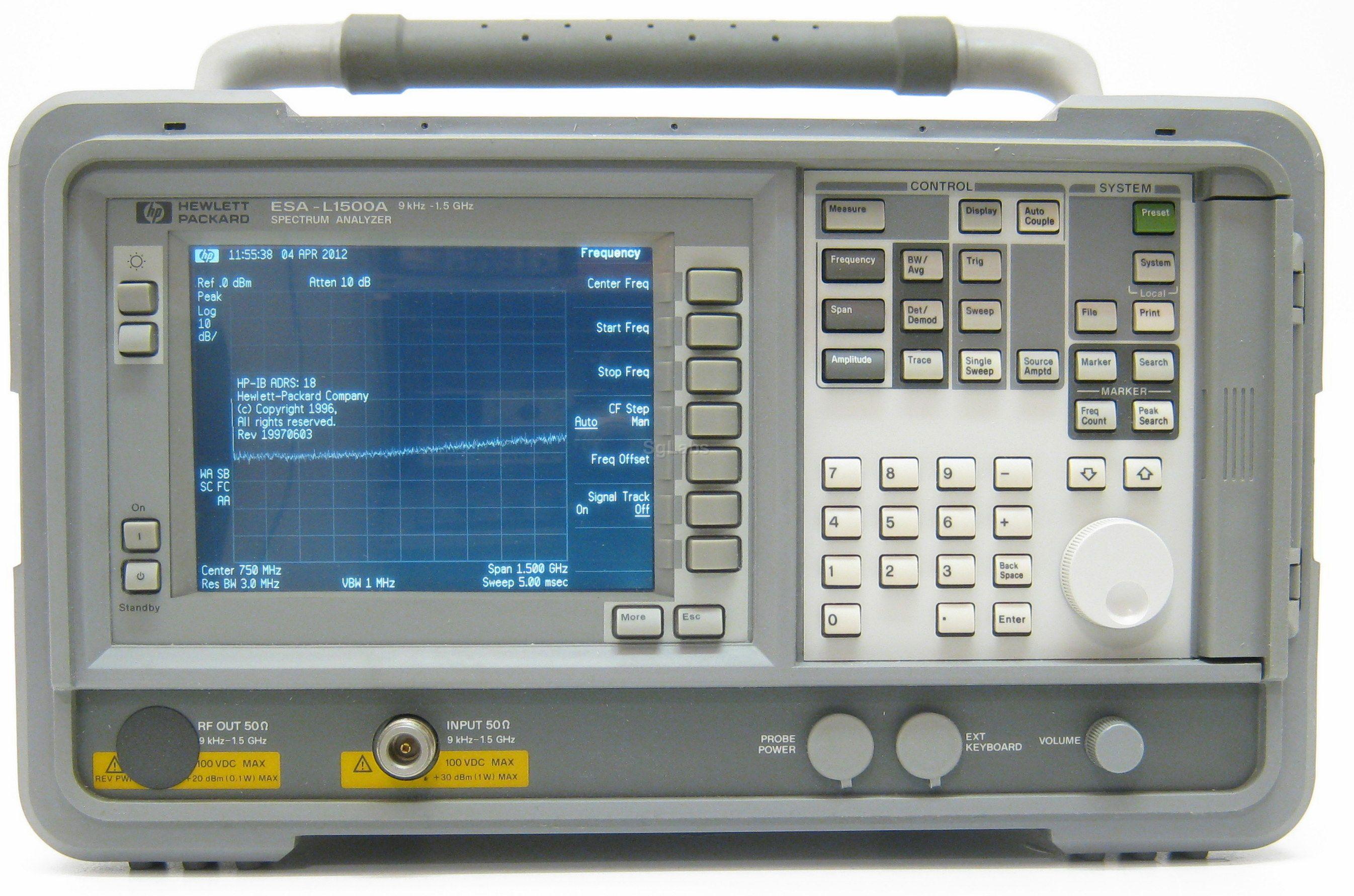 Hp Agilent Keysight Esa L1500a E4411a