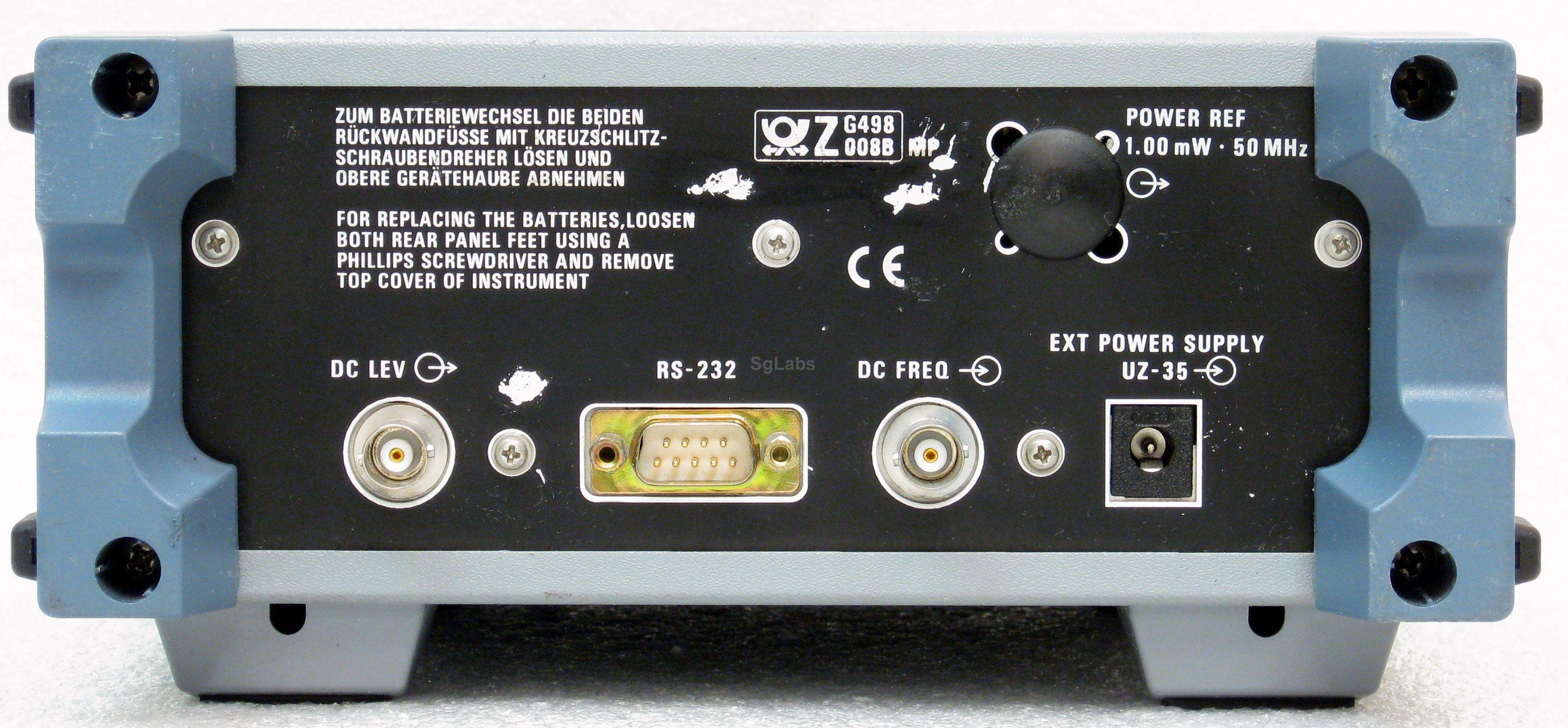 Rohde Amp Schwarz Urv 35