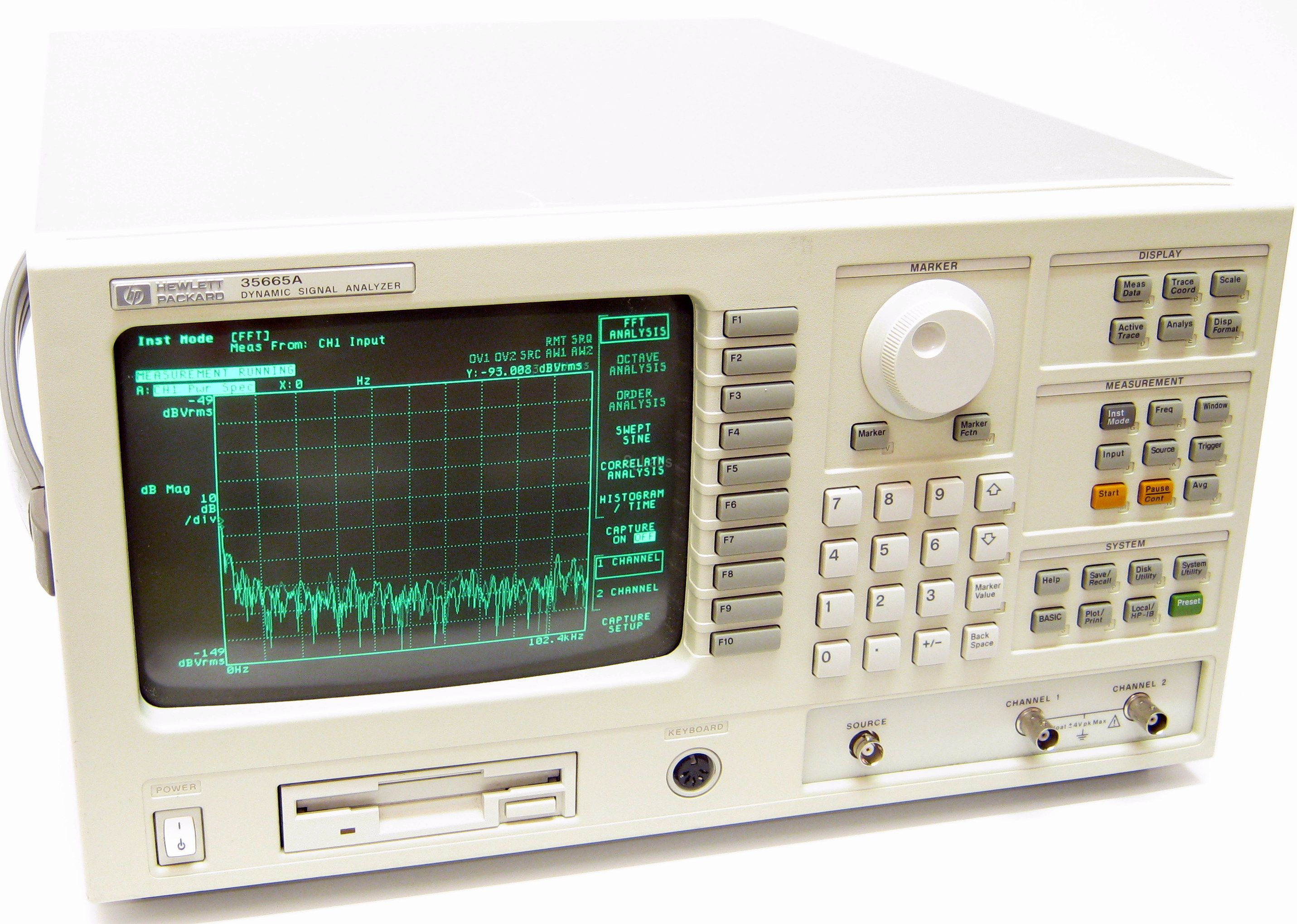 Hp Agilent Keysight 35665a Audio Distortion Meter Above Pictures Can Be Different From Actually Sold Item As Well The Installed Options On Request Send You High Resolution And Of