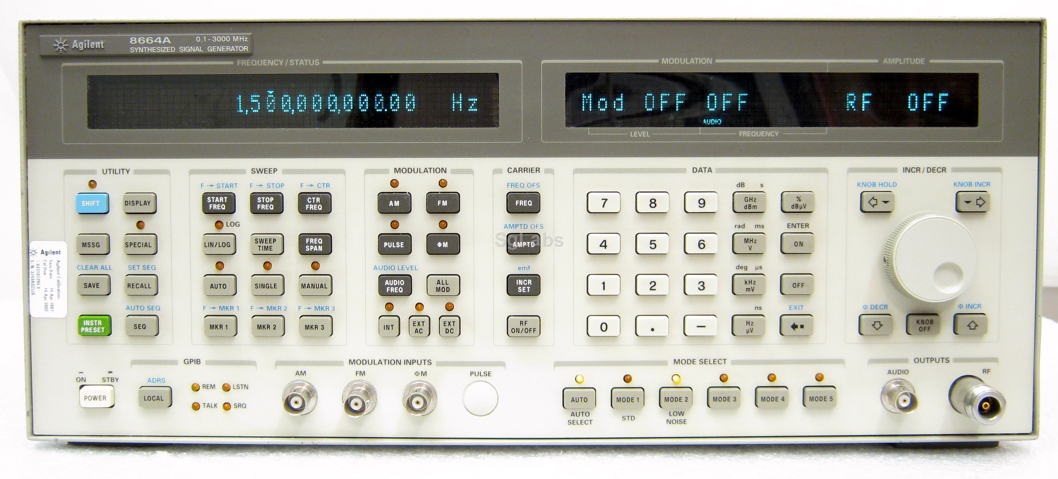 Hp Agilent Keysight 8664a High Frequency Waveform Generator On Request Well Send You Resolution Pictures And Options Of The Real Item Product Description Sinthesized Rf Signal